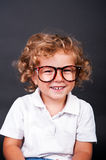 Kid portrait in glasses Royalty Free Stock Photo