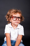 Kid portrait in glasses Stock Photography