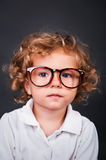 Kid portrait in glasses Royalty Free Stock Image