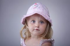 Kid portrait with hat Royalty Free Stock Photography