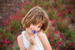 Kid portrait oudoors Royalty Free Stock Image
