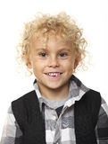 Kid portrait on white Royalty Free Stock Images