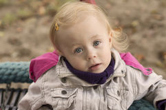 Kid portret. Little beautiful girl, close-up portrait Royalty Free Stock Photography