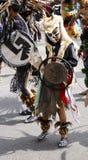 Kid with a prehispanic costume posing Stock Image