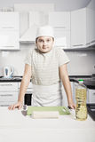 Kid prepared to cook Stock Photo
