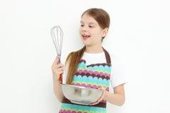 Kid preparing meal Stock Image