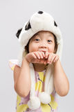 Kid Pretending Animal, Panda Royalty Free Stock Photo