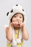 Kid Pretending Animal, Panda Royalty Free Stock Photo