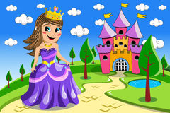 Kid Princess Fairy Castle Royalty Free Stock Image
