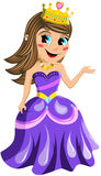 Kid Princess Presenting Isolated Royalty Free Stock Photography