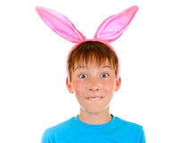 Kid with Rabbit Ears Royalty Free Stock Image
