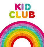 Kid  rainbow vector illustration. Stock Photos
