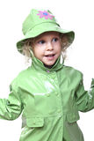 Kid with raincoat Royalty Free Stock Photos