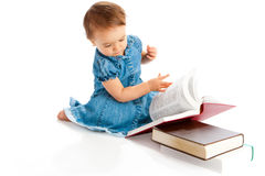 Kid reading Royalty Free Stock Photos