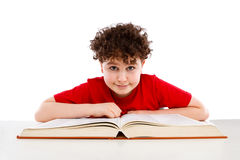Kid reading book Royalty Free Stock Photo