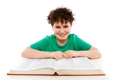 Kid reading book Royalty Free Stock Photography