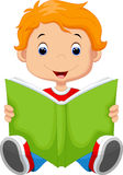 Kid reading a book. Illustration of kid reading a book Stock Image