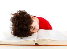 Kid reading book Royalty Free Stock Images