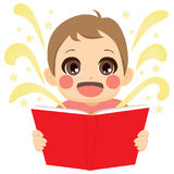 Kid Reading Fairy Tale Royalty Free Stock Photos