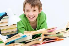 Kid reading stock photos