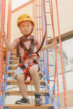 Kid ready for extreme sports Royalty Free Stock Photos