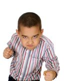Kid ready to fight Royalty Free Stock Photos