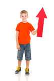 Kid red arrow Stock Photo