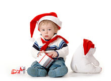 The kid in red cap Royalty Free Stock Photos