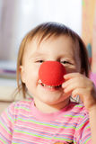 Kid with red nose Stock Photography
