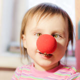 Kid with red nose Stock Photo