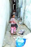 Kid in refugee camp Palestine. Kid on street in Palestine Stock Image