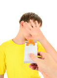 Kid refuses Cigarettes Stock Images