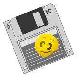 Kid retro disk Royalty Free Stock Photography