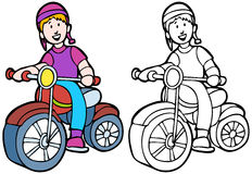 Kid Riding a Bike Royalty Free Stock Photography