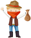 Kid in robber costume Royalty Free Stock Image