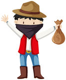 Kid in robber costume Royalty Free Stock Photo