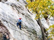 Kid Rock Climbing Stock Photography