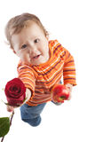 Kid with a rose Stock Photography