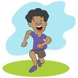 Kid Running Cartoon Character Royalty Free Stock Photo