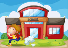 A kid running Royalty Free Stock Images