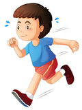 A kid running. Illustration of a kid running on a white background Stock Photos