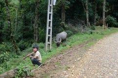 Kid in rural Vietnam Royalty Free Stock Photo