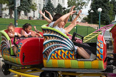 Kid's Amusement at A Taste of Colorado Stock Images
