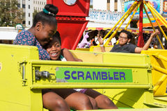 Kid's Amusement at A Taste of Colorado stock photography