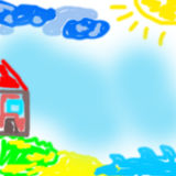 Kid's artwork Royalty Free Stock Images