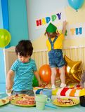 Kid's on the birthday party Stock Photography