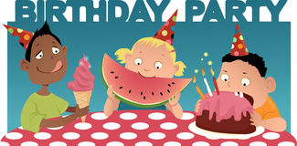 Kid's birthday party Stock Photography