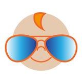 Kid's cool sun glasses. Vector illustration of the cool sun glasses for kids Stock Images