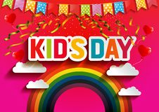 Kid`s day vector illustration