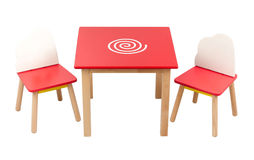 Kid's desk and chairs Royalty Free Stock Photography